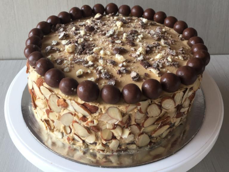Coffee and Almond Birthday Cake