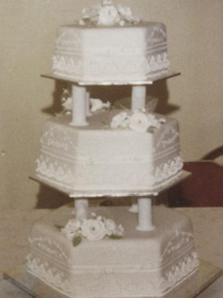 Traditional 3 Tier White Wedding Cake
